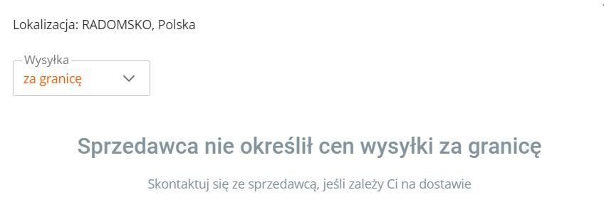 продавец с allegro.pl не высылает товар за границу