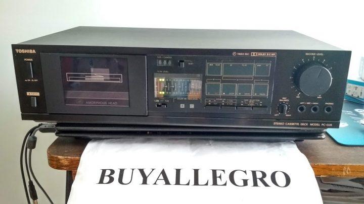 Старые кассетные магнитофоны на allegro.pl